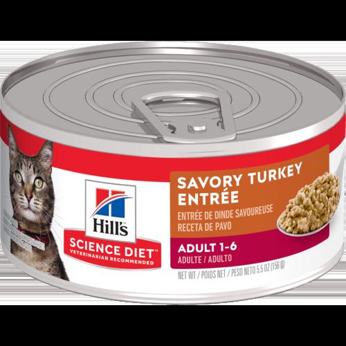 Hill's Pet Science Diet Adult 1-6 Savory Turkey Entrée Wet Cat Food