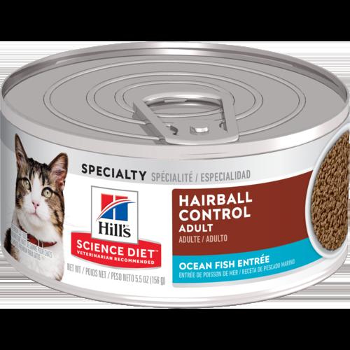 Hill's Pet Science Diet Adult Hairball Control Ocean Fish Entrée Wet Cat Food