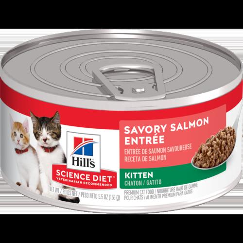Hill's Pet Science Diet Savory Salmon Entrée Wet Kitten Food