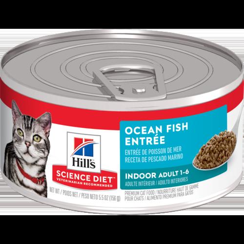 Hill's Pet Science Diet Indoor Adult 1-6 Ocean Fish Entrée Wet Cat Food